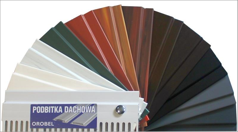Podbitka PCV posufitka komorowa belgijska Orobel wzornik kolorów